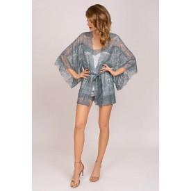 Роскошный кружевной халат-кимоно