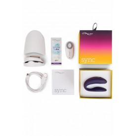 Фиолетовый вибромассажер для пар We-Vibe Sync Purple на радиоуправлении